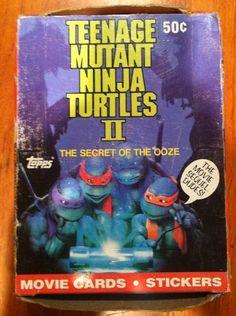New TEENAGE MUTANT NINJA TURTLES MOVIE 2 1991 CARD BOX