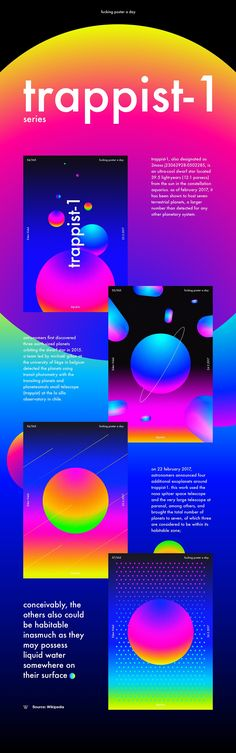 Trappist-1 Poster Series on Behance