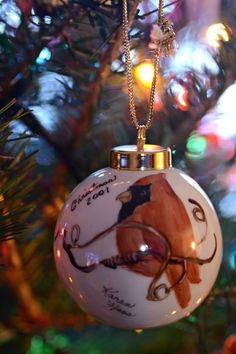I adopted another ornament for the 2015 tree.  It is a hand painted ornament from 2001.  $1.00