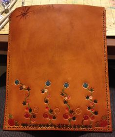 Leather iPad holder . By Mary Shelby