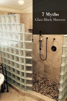 Myth #7 - You need to anchor a glass block shower on all sides. Click here to see all 7 myths http://blog.innovatebuildingsolutions.com/2015/11/14/7-myths-glass-block-showers/