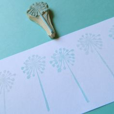 Wishful Thinking Dandelion - Hand Carved Rubber Stamp