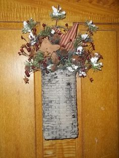 Primitive Basket Gingerbread Pine Star Berries Christmas EB 614 #NaivePrimitive #myself