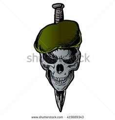 Find Skull Beret stock images in HD and millions of other royalty-free stock photos, illustrations and vectors in the Shutterstock collection. New Tattoos, Tatoos, Karma Tattoo, Tattoo No Peito, Indian Army Wallpapers, Army Patches, Military Tattoos, Green Beret, Classic Tattoo