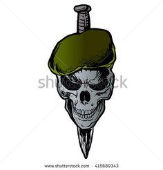 Skull Beret.