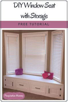How to build a built-in window seat with storage