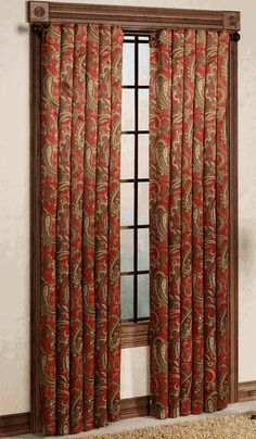 Bali Blackout Panel - Crimson - Renaissance - View All Curtains