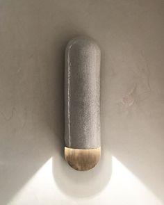 Interior Design Addict: RAKU-YAKI COLLECTION. SCONCE . By Emmanuelle Simon #emmanuellesimon #light #sconce #design #furniture #collection #raku @fabienne_lhostis #brass #ateliersbataillard | Interior Design Addict