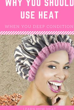 The best way to maximize the benefits of your deep conditioner is to add heat to your treatment, here's why... Braid Out Natural Hair, Natural Hair Regimen, Curly Hair Tips, Braids For Black Hair, Natural Hair Tips, Natural Hair Styles, 4c Hair, Black Hair Conditioner, Deep Conditioner For Natural Hair