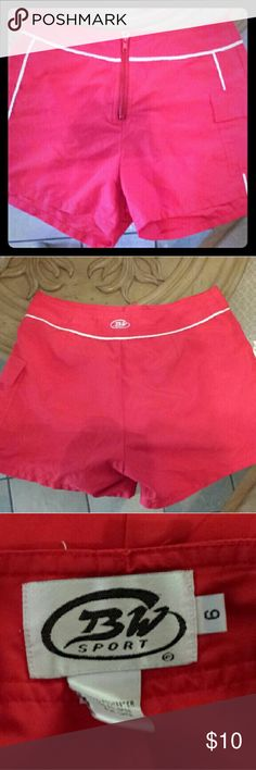 Red Board Shorts Red Board shorts from BW Sport   Side pocket and front zipper.   Perfect for summer!   #red #boardshorts #bwsport #lifeguard #swim #shorts #pocket #summer BW Sport Swim