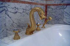 Gold Dragon by Mestre. Artistic faucet. New bathroom concept