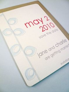 Mid century modern save the date $1.25 from ps paper goods on Etsy