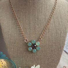 Rose gokd swarovski crystal pendant necklace by shellyannscrystals on Etsy https://www.etsy.com/listing/475726127/rose-gokd-swarovski-crystal-pendant