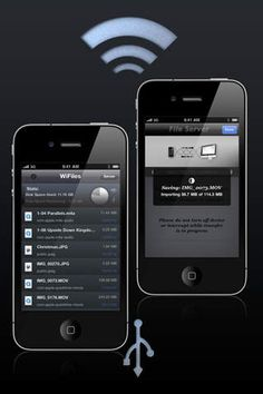 Jacob Burns   Utilities   iPhone   WiFiles $0.00   ver.1.2.8  $0.00   WiFiles is a simple, elegant, easy to use wireless/USB file transfer   storage application.You can store any type of file, transfer to and from ...