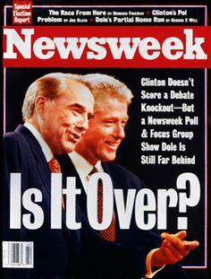 Revista Newsweek (EEUU) - 14 de octubre de 1996. Debate presidencial entre Bill Clinton y Bob Dole. http://www.c-spanvideo.org/program/74271-1