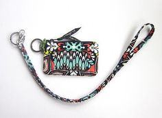 Vera Bradley Zip ID Case and Lanyard in Sierra *New With Tags*
