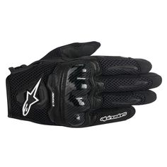 The Alpinestars SMX 1 Air Gloves are the ideal summer riding glove for the female hand. Constructed of goatskin and an extremely lightweight leather chassis, these gloves are designed for breathability and flexibility. Summer Motorcycle Gloves, Cafe Racer Motorcycle, Motorcycle Gear, 3d Mesh, Cafe Racer Build, Black Leather Gloves, Summer Accessories, Motorcycle Accessories, Black N Yellow