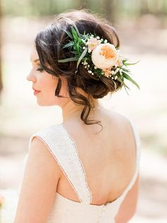 17 Hairstyles for Long Hair With Flowers | TheKnot.com