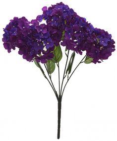 Artificial Polyester Hydrangea Bouquet (24 cm x 24 cm x 54cm, dark purple)