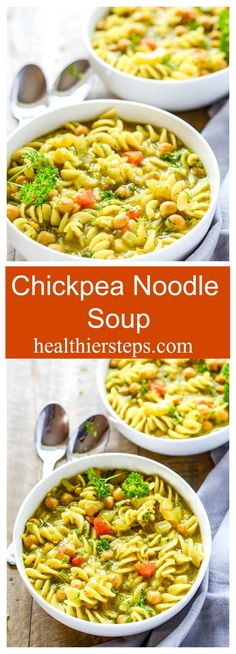 Chickpea Noodle Soup Gluten-Free and Vegan