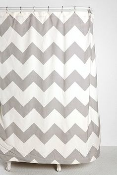 Zigzag Shower Curtain, Gray - contemporary - shower curtains - - by Urban Outfitters