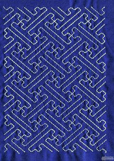 sashiko patterns free download | Sashiko Quilt Embroidery Design 15
