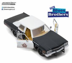 Greenlight 1/24 Scale 1974 Dodge Monaco BluesMobile Blues Brothers Diecast Car Model 84011