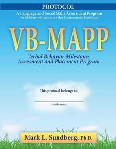 VB-MAPP Protocol | ABA Supplies | National Autism Resources