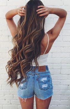 Wish my hair was this long! With the color too