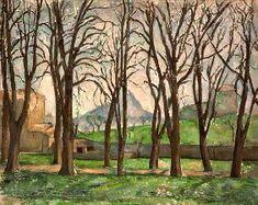 Paul Cézanne - Chestnut trees at the Jas de Bouffan