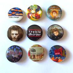 Treble Charger: (9pcs)Unique Button badges of Canadian legendary band