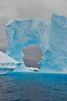 Kayaking in the Iceberg Graveyard - Pleneau Bay, Antarctica.