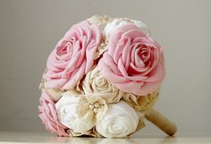 Fabric Bridal Bouquet Lace Bouquet, Fabric Bouquet, Wedding Fabric, Wedding Bouquets, Trending Outfits, Unique Jewelry, Bridal, Handmade Gifts, Rose