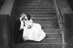 black tie wedding couple