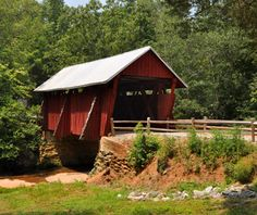 Drive through Cherokee Foothills Scenic Highway in SC for peach orchards and covered bridges