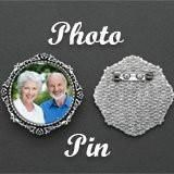 Wedding Picture Pin Brooch Kit For Bouquet Flowers Mother of Bride or Groom Round Picture Pin