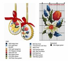 Zz Cross Stitch Cards, Cross Stitch Flowers, Cross Stitching, Cross Stitch Patterns, Chicken Cross Stitch, Diy Easter Decorations, Easter Cross, Easter Projects, Christmas Cross