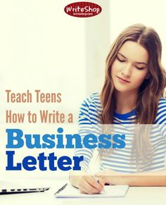 In middle and high school, students should learn how to write a business letter. Its formal structure adds credibility to the sender's request or opinion. High School Writing, Homeschool High School, Teaching Writing, Homeschool Curriculum, Homeschooling, Middle School, Business Writing, Business Letter, Formal Letter Writing
