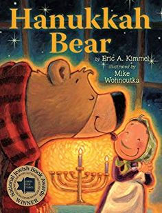 """Pre """"On the first night of Hanukkah, Old Bear wanders into Bubba Brayna's house and receives a delicious helping of potato latkes when she mistakes him for the rabbi. Includes a recipe for latkes. Roll A Story, First Night Of Hanukkah, Big Green Monster, How To Celebrate Hanukkah, Hannukah, Pre Writing, Menorah, Have A Laugh, Book Themes"""