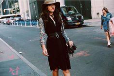 How to Wear a Shirt Under a Dress | POPSUGAR Fashion