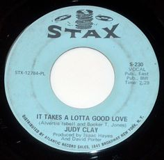 Original Stax Soul 45 JUDY CLAY You Can't Run Away From Your Heart / Lotta Love