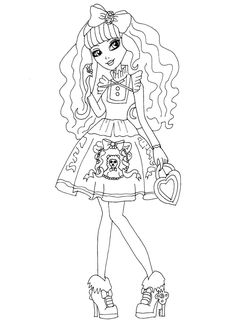 colouring pages coloring sheets adult coloring coloring books ever after high copic monster high lolita free printable