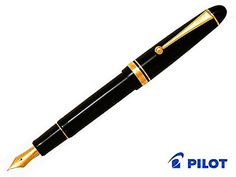 Pilot Fountain Pen Custom 742 Black Body FA-Nib