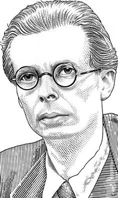 Aldous Huxley by Leib Chigrin