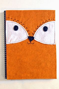 punk projects: DIY Felt Fox Notebook Cover