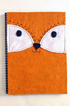 punk projects: DIY Felt Fox Notebook Cover