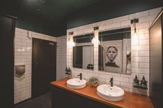 We would love to see more awesome bathrooms from restaurants and cafes. This one, Hart Bar as part of the Railway Parks Hotel, was designed by Saintflo Designs and it is super chic! Love the Mizu Bloc taps in black to complement the artwork and feel of the space.
