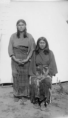Two American Indians of the Comanche Nation 1892.