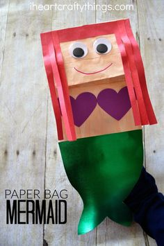 I HEART CRAFTY THINGS: Paper Bag Mermaid Craft for Kids