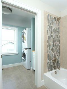 Hall Bath And Laundry, Traditional Laundry Room, Minneapolis
